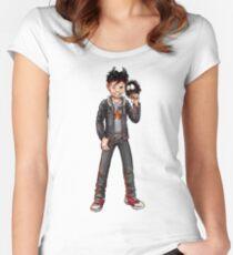 LUZIFER JUNIOR Tailliertes Rundhals-Shirt