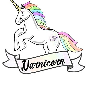 Yarnicorn knitting unicorn by GamerCrafting