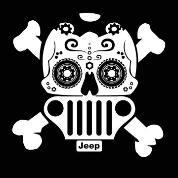 Jeep Sugar Skull  by thatstickerguy