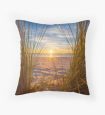 Throw Those Curtains Wide Throw Pillow