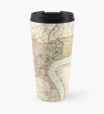 Vintage Map of Shanghai China (1918) Travel Mug