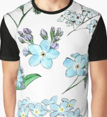 A collection of Forget Me Nots Graphic T-Shirt