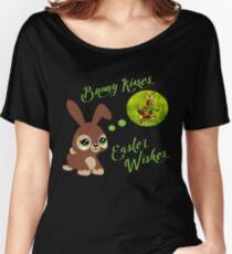Happy Easter Cute Bunny Nice Shirt Gift Women's Relaxed Fit T-Shirt
