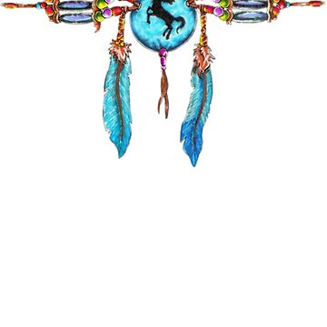 Native American Choker Necklace t-shirt by Skyviper