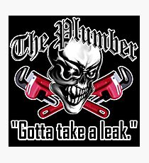 Plumber Skull 5: Gotta Take a Leak Photographic Print