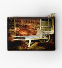 An Old Wheelbarrow, An Ancient House Studio Pouch