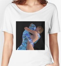 woman is hugging with the artificial man Women's Relaxed Fit T-Shirt