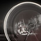 The fire wheel ghost man by Stwayne
