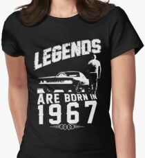 Legends Are Born In 1967 Women's Fitted T-Shirt