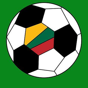 Lithuanian Soccer Ball - Lithuanian Football - Lithuanian Flag by Natalia-Art