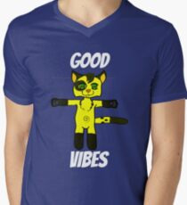 Good Vibes Cat Men's V-Neck T-Shirt