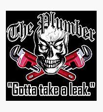 Plumber Skull 3.1: Gotta Take a Leak Photographic Print