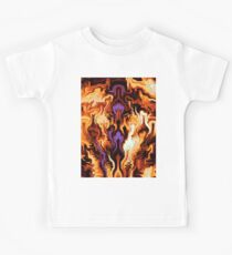 Colourful Flames Abstract Kids T-Shirt