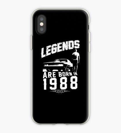 Legends Are Born In 1988 iPhone Case