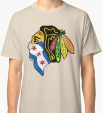 Blackhawks Chicago Flag Classic T-Shirt