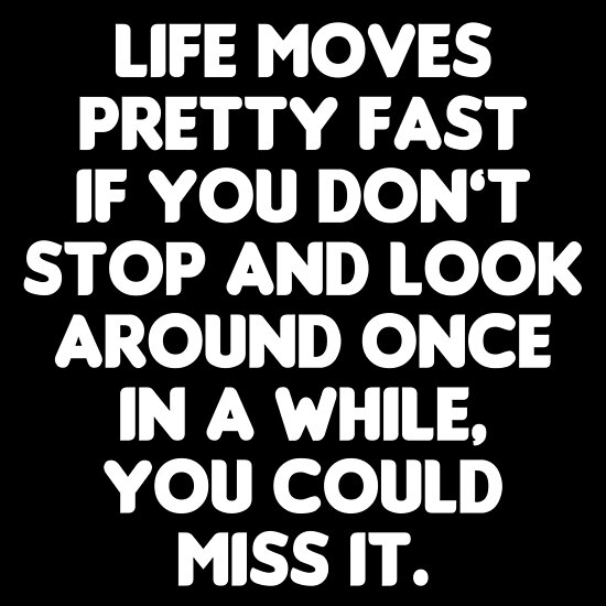 Life Moves Pretty Fast   Ferris Buelleru0027s Day Off Quote By Everything Shop