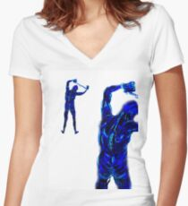 MAHON ii Women's Fitted V-Neck T-Shirt