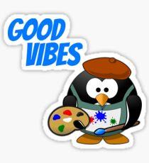 Good Vibes Penguin Sticker