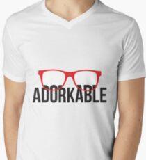 Adorkable Hipster Men's V-Neck T-Shirt