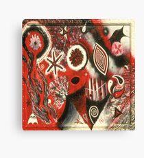 Red Black White Labyrinth Canvas Print