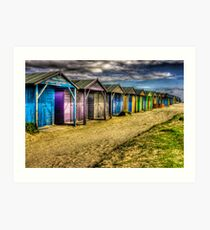 West Wittering -All along the Beach Huts  Art Print