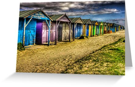 West Wittering -All along the Beach Huts  by Greg Roberts
