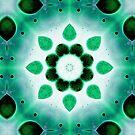 Abstrakte Kunst -  Fluid Art - Mandala von sibelscribble