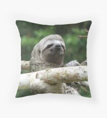 3 Toed Sloth Throw Pillow