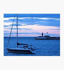 Sailboat in Dublin Bay Photographic Print