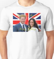 HRH Prince Harry and Meghan Markle Royal Wedding Memorabilia - Pro Photo Unisex T-Shirt