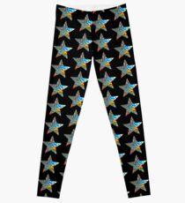 Motif étoiles sur fond noir Leggings