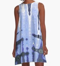 Abstract in blue A-Line Dress