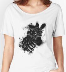 B&W zebra Women's Relaxed Fit T-Shirt