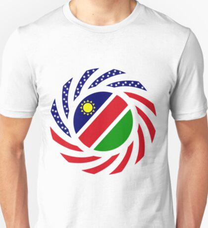 Namibian American Multinational Patriot Flag Series T-Shirt