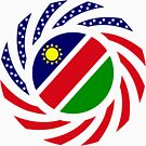 Namibian American Multinational Patriot Flag Series by Carbon-Fibre Media