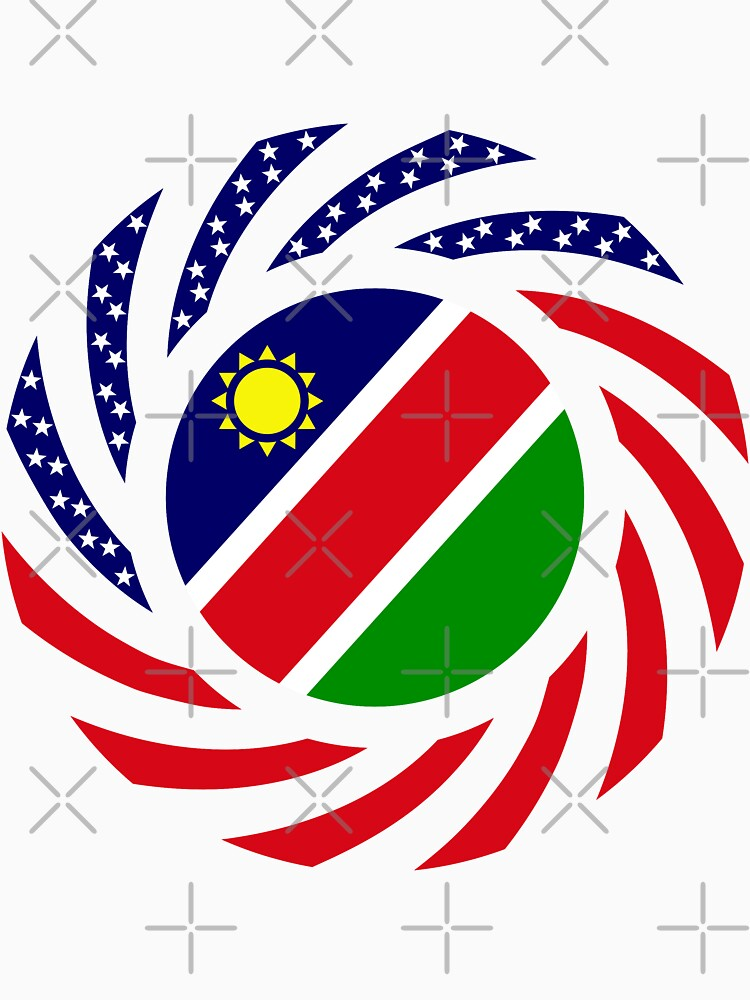 Namibian American Multinational Patriot Flag Series by carbonfibreme