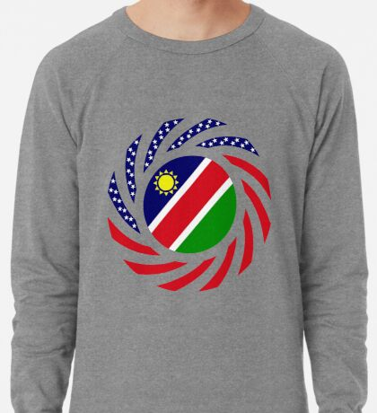 Namibian American Multinational Patriot Flag Series Lightweight Sweatshirt