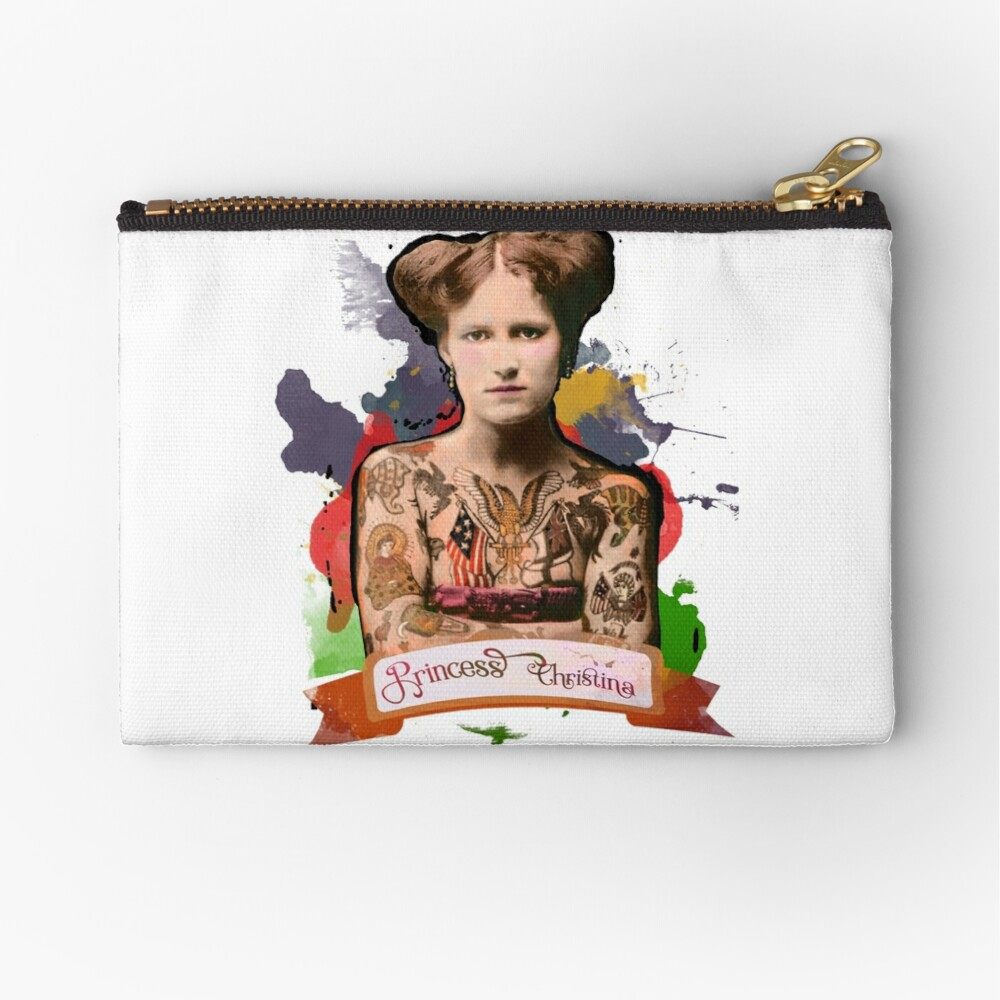Princess Christina (The Tattooed lady) - The Britannia Panopticon Zipper Pouch