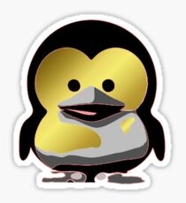 Linux Baby Tux d'Or Sticker