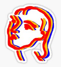 Pegatina matisse mujer dibujo colores primarios