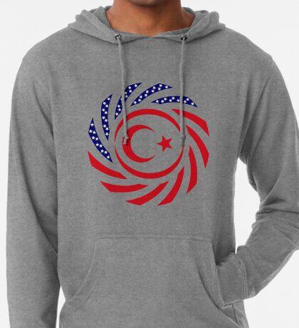 Northern Cyprus American Multinational Patriot Flag Series Lightweight Hoodie