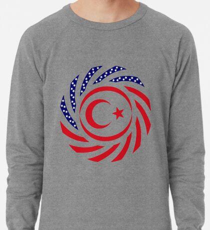 Northern Cyprus American Multinational Patriot Flag Series Lightweight Sweatshirt