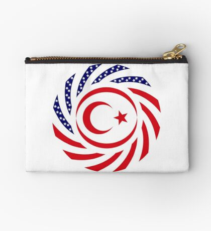 Northern Cyprus American Multinational Patriot Flag Series Zipper Pouch