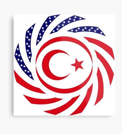 Northern Cyprus American Multinational Patriot Flag Series Metal Print