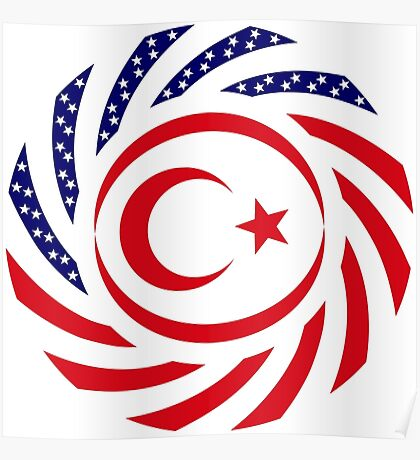 Northern Cyprus American Multinational Patriot Flag Series Poster
