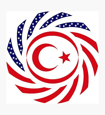 Northern Cyprus American Multinational Patriot Flag Series Photographic Print