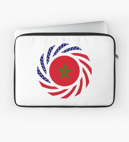 Moroccan American Multinational Patriot Flag Series Laptop Sleeve