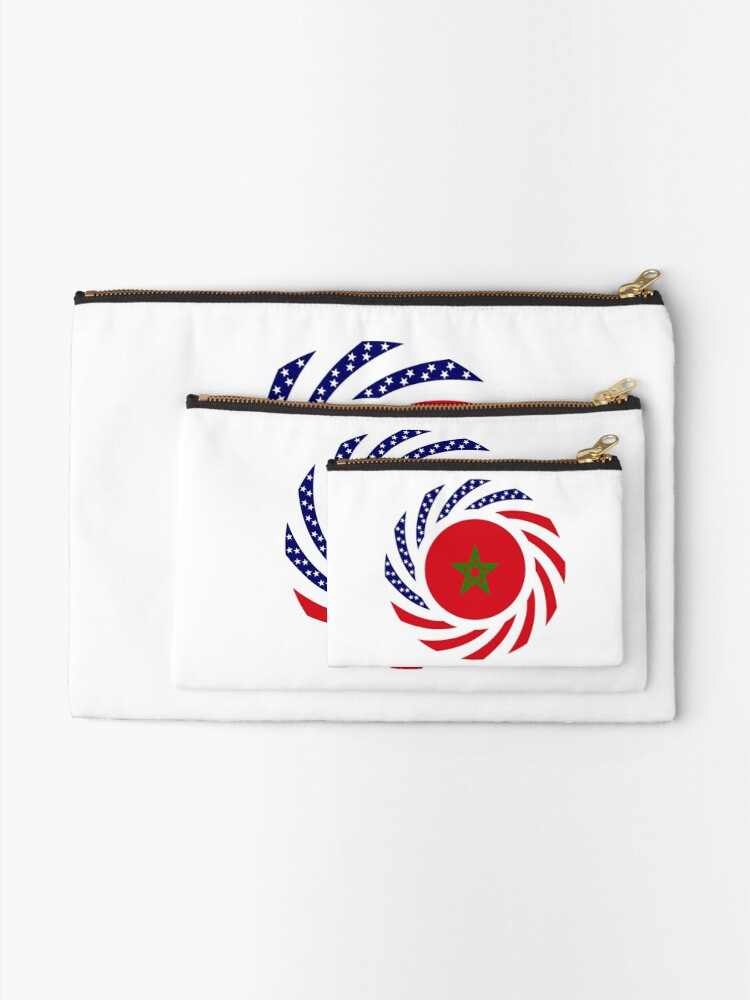 Alternate view of Moroccan American Multinational Patriot Flag Series Zipper Pouch