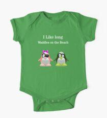 Cute Penguin couple One Piece - Short Sleeve