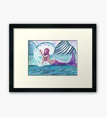 Andromeda Mermaid Fantasy Art by Laurie Leigh Framed Print
